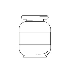 Line solvent jar icon vector
