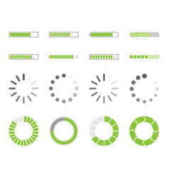 loading icons load indicator sign vector image