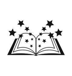 Magic book icon simple style vector