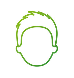 man avatar face male business character image vector image