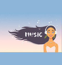 Music girl vector