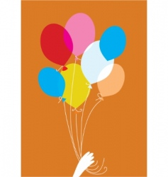 party balloons vector vector image