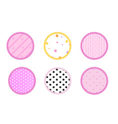 pink background vector image