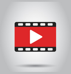 play icon play video in flat style business vector image