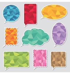 Polygon speech bubbles vector