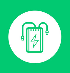 power bank linear icon portable charger vector image