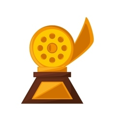 reel film trophy awards golden vector image
