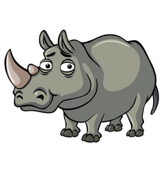 Rhino with sad eyes vector