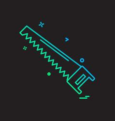 saw icon design vector image