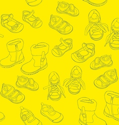 seamless shoes vector image
