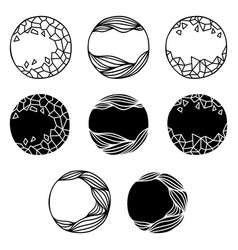 set of abstract logo elements vector image