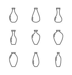 set vases vector image