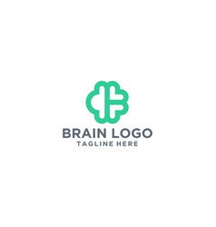 simple clean and bold brain logo vector image