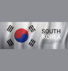 south korea flag background template with copy vector image