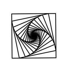 spirals a square vector image