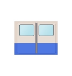 Subway train doors icon cartoon style vector