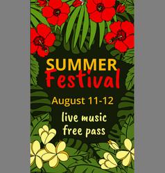 summer festival vector image