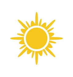 Sun icon Light yellow white background isolated vector