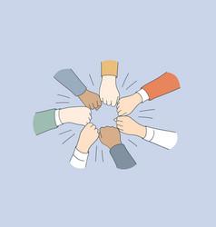 teambuilding motivation business team concept vector image