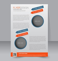 Template for brochure or flyer Editable A4 poster vector image