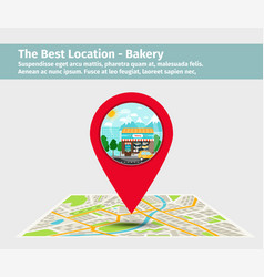 the best location bakery vector image