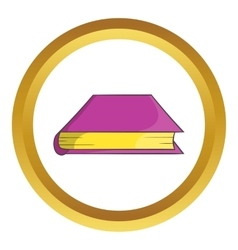 Thick book icon vector