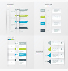 timeline design 4 item green blue gray color vector image