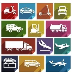 Transport flat icon-05 vector image