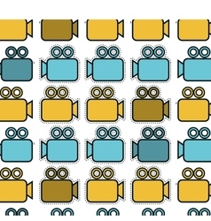 video camera pattern isolated icon vector image