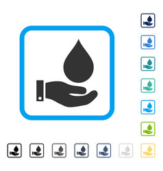 Water service framed icon vector