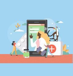 web medicine online medical information advice vector image