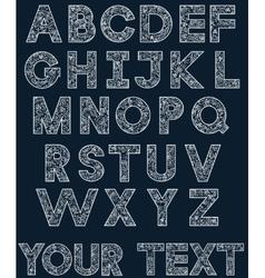 White alphabet 2 vector image