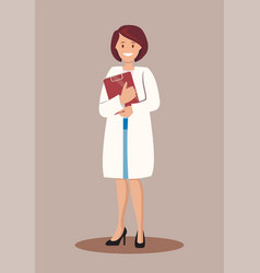 woman is a doctor vector image