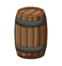 Wooden barrel iconcartoon icon vector