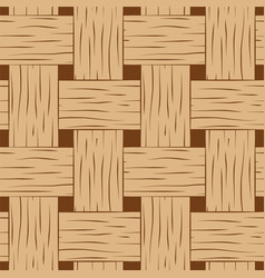 braided seamless pattern brown and beige basket vector image vector image