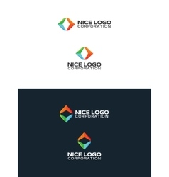 colored arrows travel logo vector image