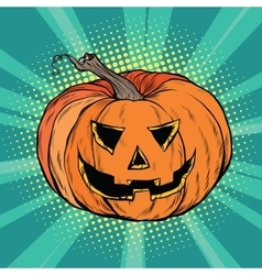 Evil pumpkin character Halloween vector image