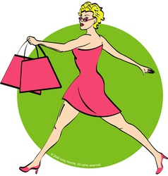 Girl shopping vector image vector image