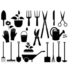isolated garden tools vector image vector image