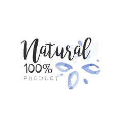 Percent Natural Beauty Promo Sign vector image vector image