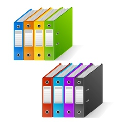Set of colorful ring binders rainbow vector image vector image