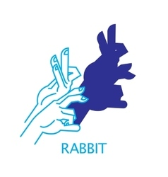 Shadow Hand Puppet Rabbit vector image vector image