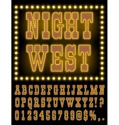 Vegas Night Font vector image