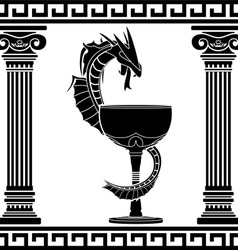 Fantasy pharmacy symbol vector