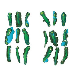 Golf holes vector image vector image