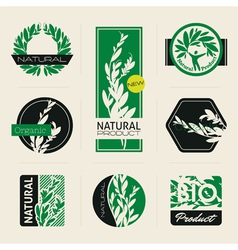 Nature-themed labels vector