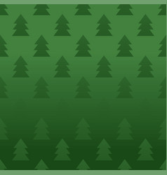 seamless pattern with pine trees vector image