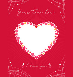 valentine card or poster with heart shape vector image vector image