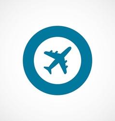airplane bold blue border circle icon vector image