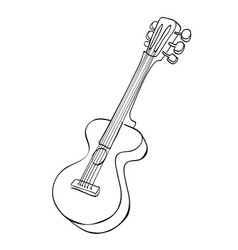 cartoon image of guitar vector image vector image